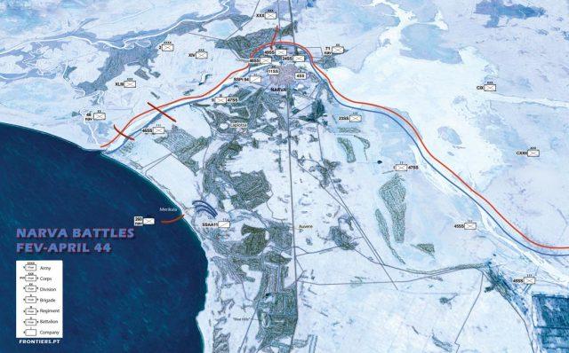 Narva Isthmus February of 1944