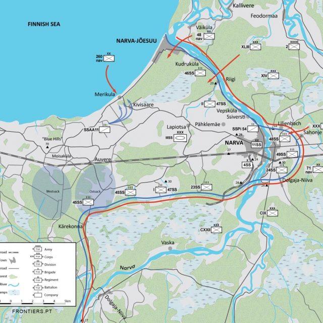 Narva battles winter of 1944